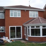 Conservatory on back of a new house extension
